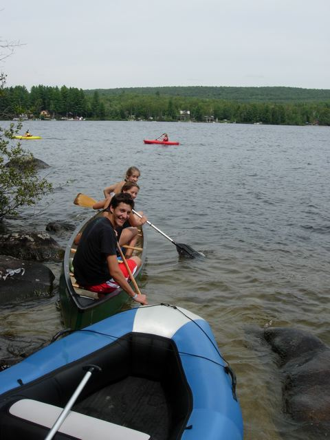 Canoe races at Groton lake
